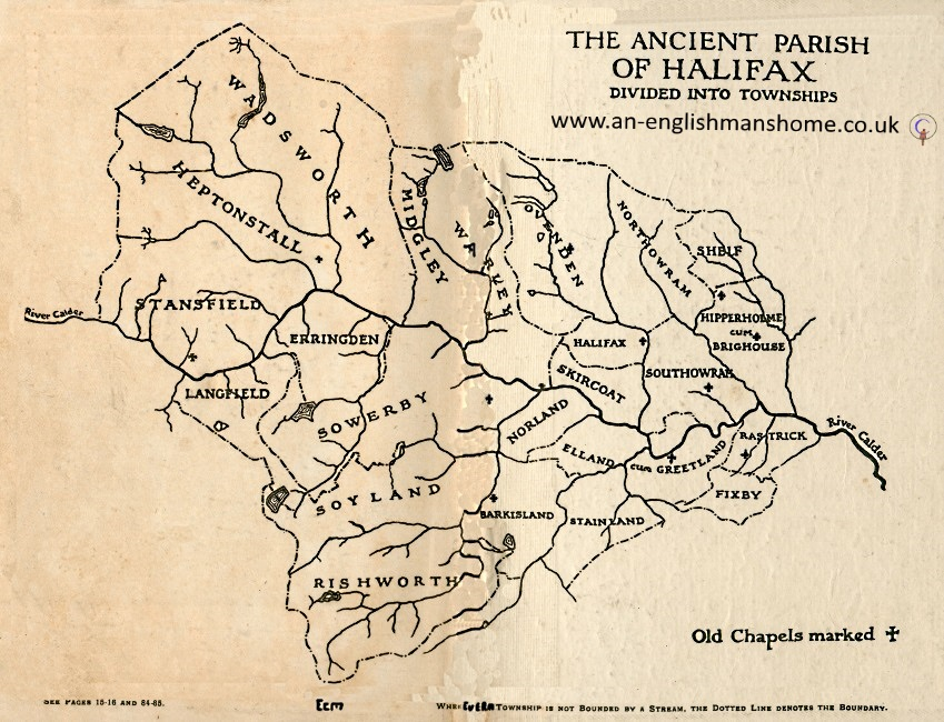 Ancient Map Of The Parish Of Hal